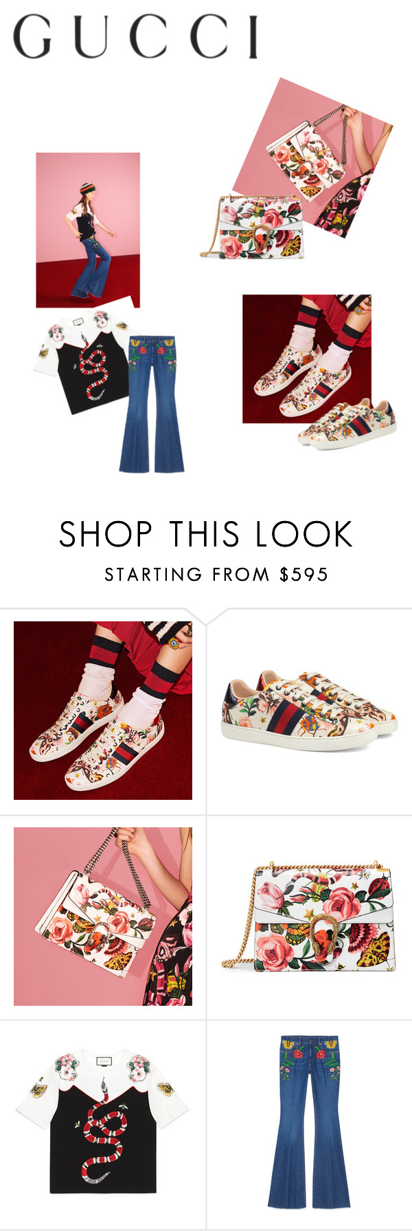 """Presenting the Gucci Garden Exclusive Collection: Contest Entry"" by wqt1 ❤ liked on Polyvore featuring Gucci and gucci"