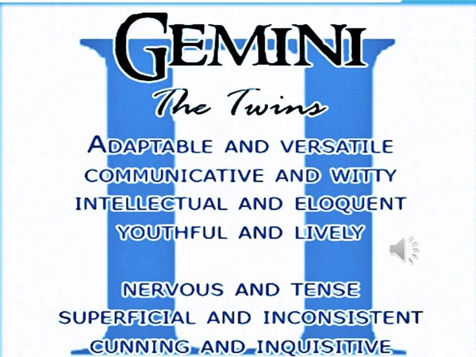 gemini astrological sign characteristics