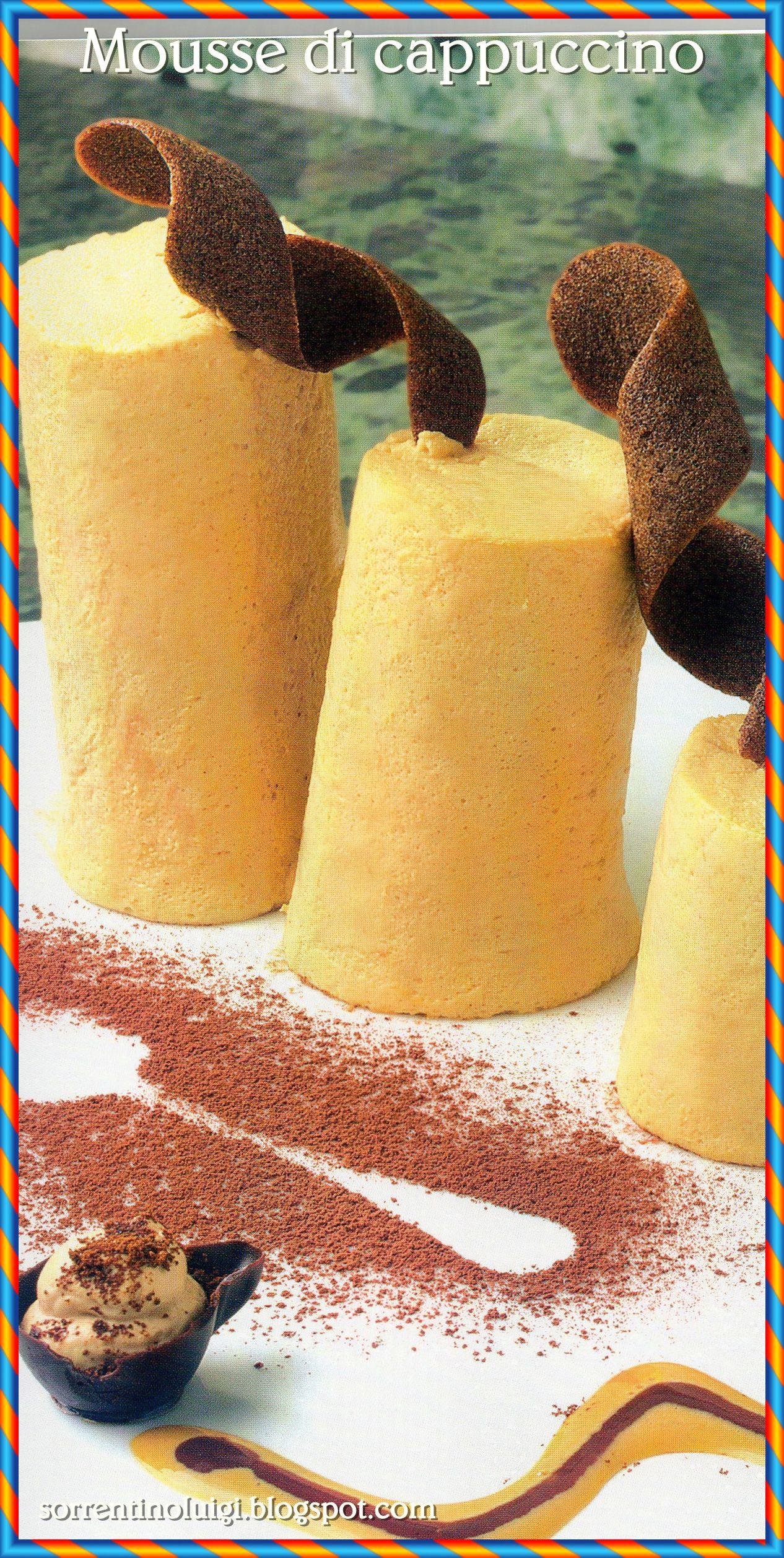 """Mi sono sempre chiesto """"Se qualcosa deve essere pieno di calorie e di colesterolo, perché non possono esserlo i broccoli, invece del gelato?"""" buona giornata, eccovi la ricetta: http://sorrentinoluigi.blogspot.com/2014/07/mousse-di-cappuccino.html"""