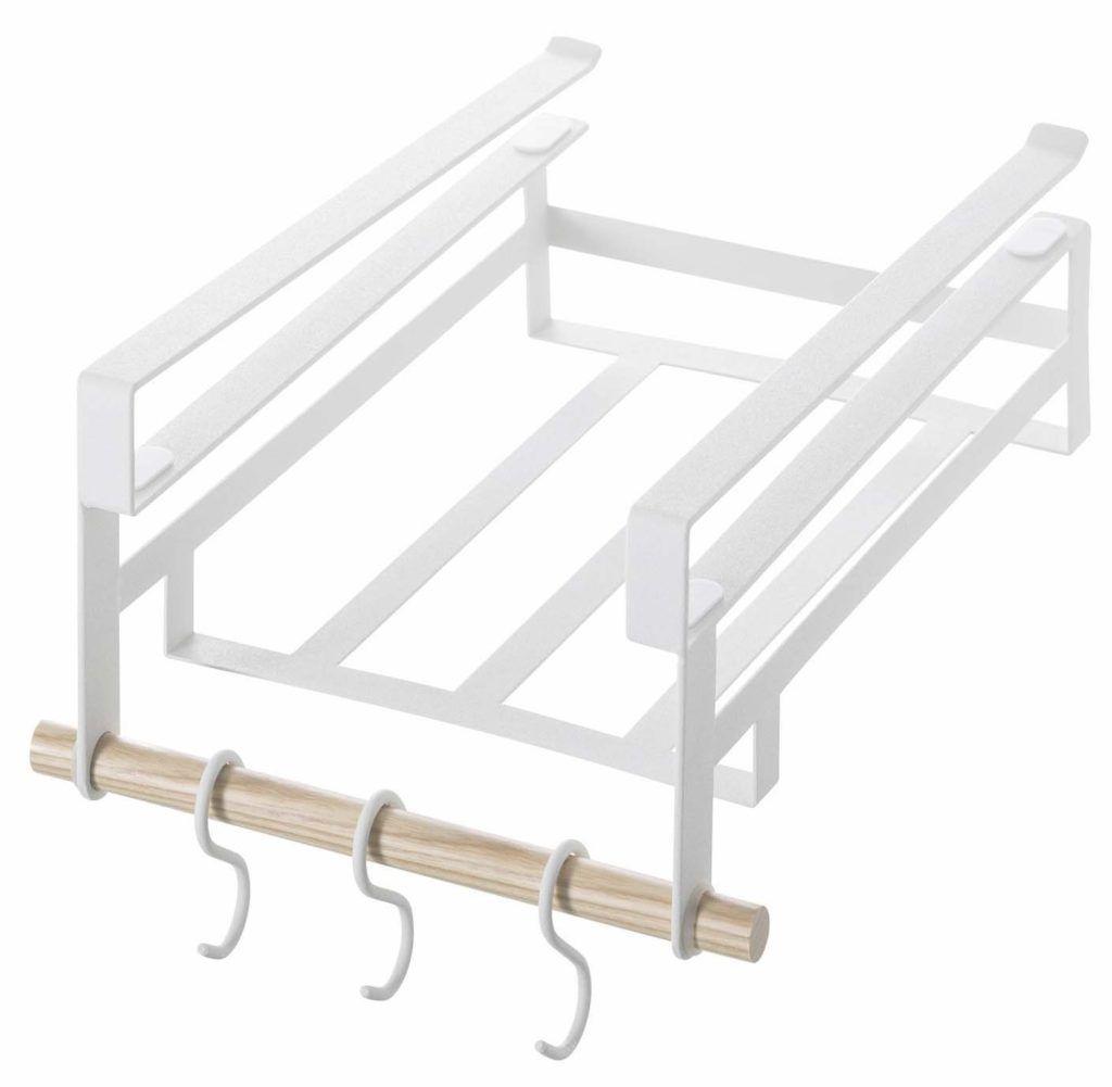 Storage Shelves Ravishing Under Shelf Ideas Yamazaki Home Tosca Rack Large