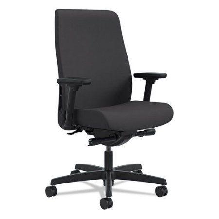 HON Hlwu.Y2.A.H.CU10.SB Endorse Upholstered Mid-Back Work Chair, Black