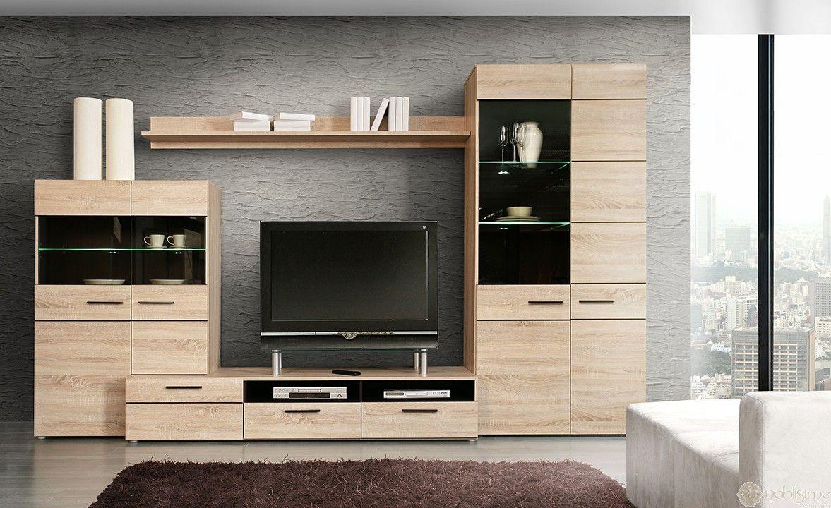 Complex Living In Stil Modern Realizat Din Pal Si Fronturi Mdf Cu  # Finlandek Meuble Tv