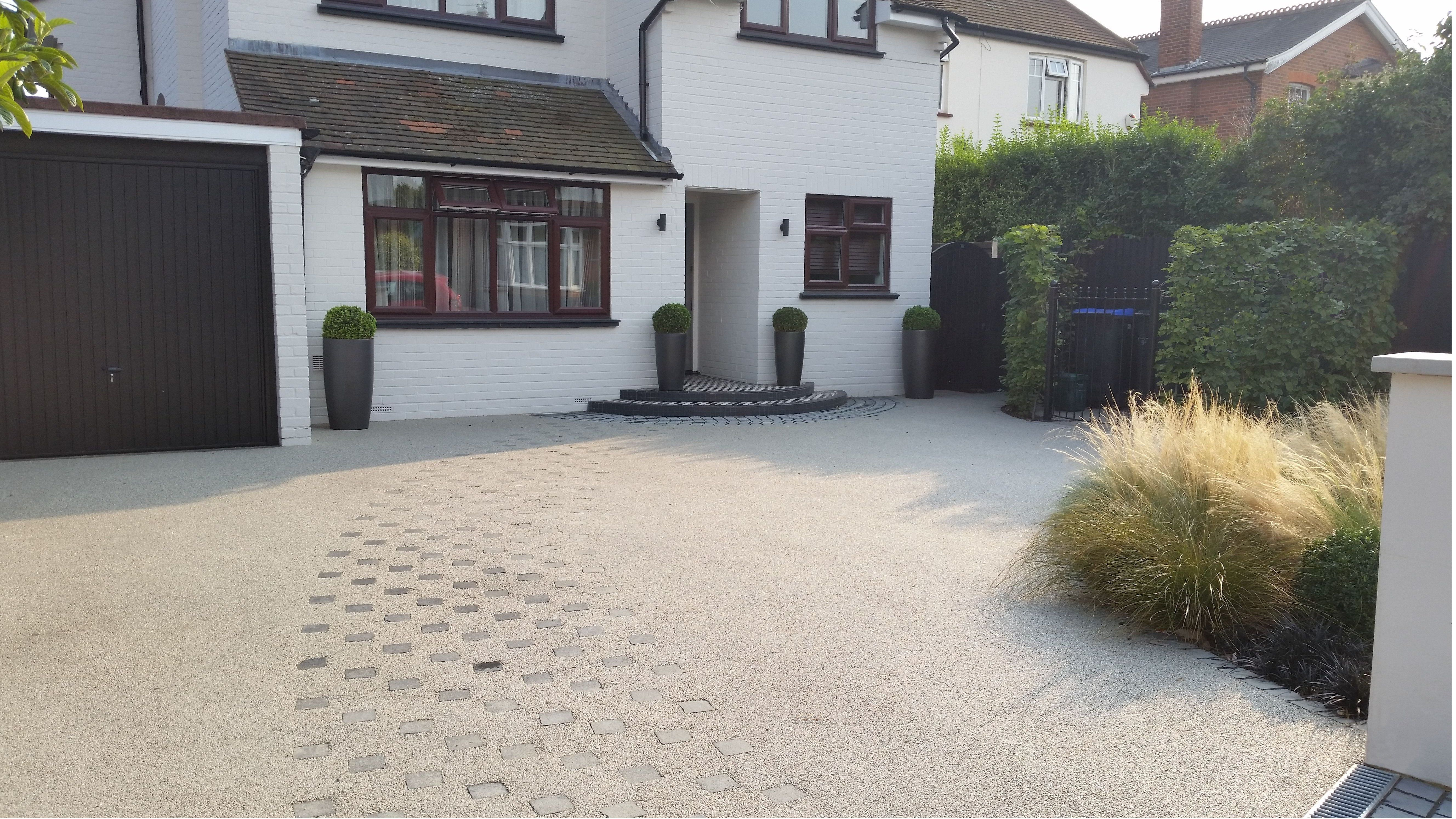 Contemporary Driveway Contemporary Front Garden Design In Woking Surrey With