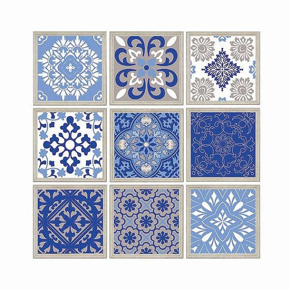 Patchwork Moroccan Style Wall Art Digital Mosaic By Plumeriart Green Wall Art Navy Blue Wall Art Yellow Wall Art