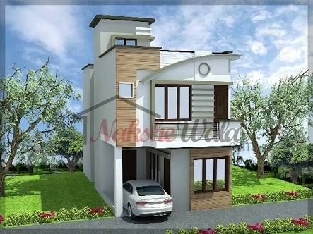Image result for small house with car parking construction for Small building elevation