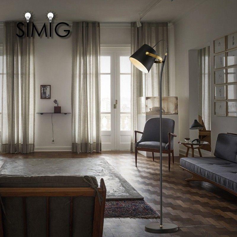 Photo of Modern decorative black color E27 bulb metal floor lamp for hotel