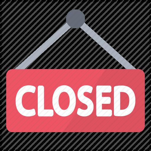 Board Closed Notice Red Sign Store Icon Apple Logo Wallpaper Store Icon Icon