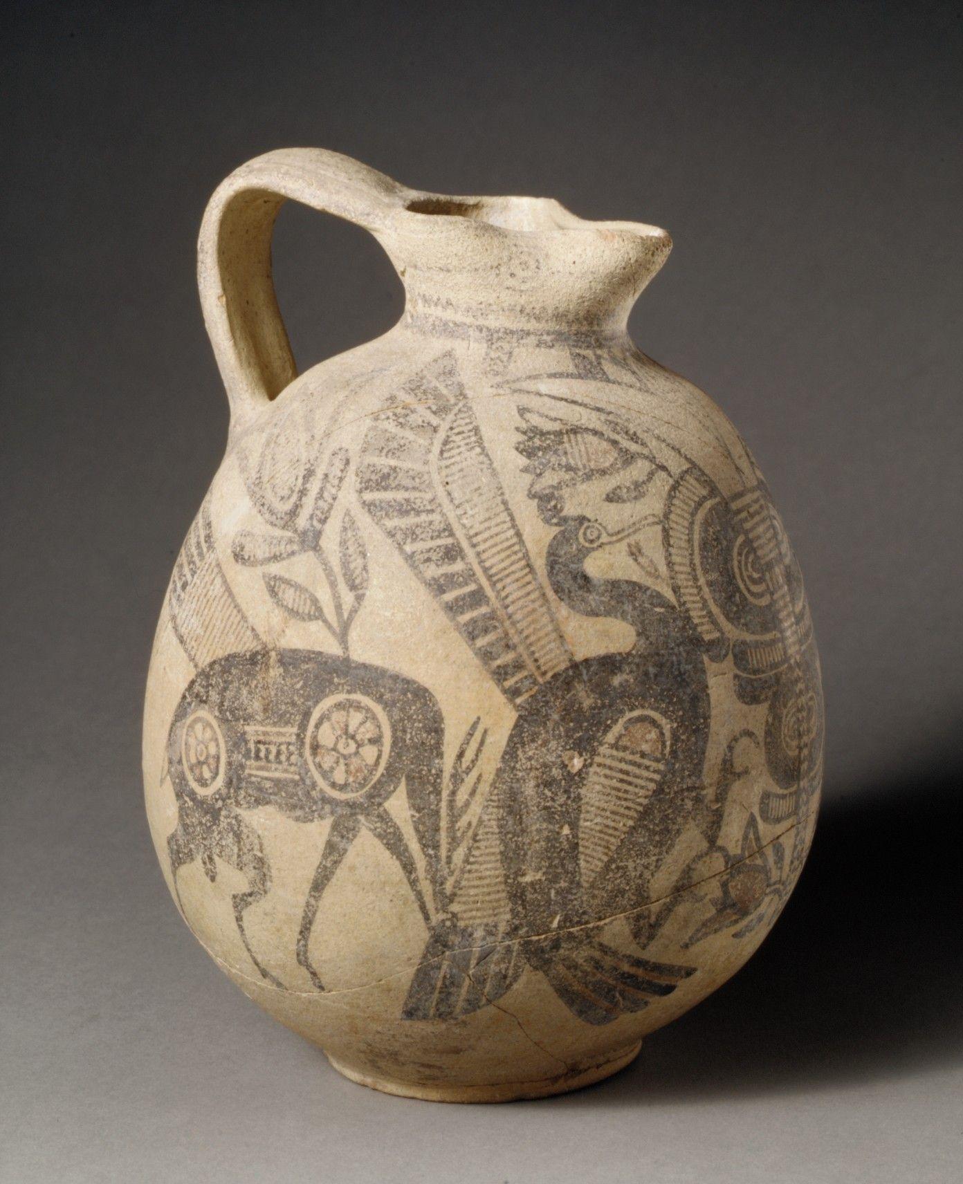 Terracotta jug Period: Cypro-Archaic I Date: ca. 750–600 B.C. ...