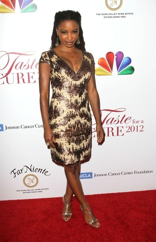 From Showtime S Shameless Actress Shanola Hampton Pageant Wear Mac Duggal Dresses Fashion