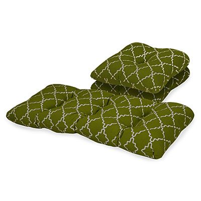 verde lime trellis 3 piece outdoor patio cushion set at big lots - Big Lots Patio Cushions