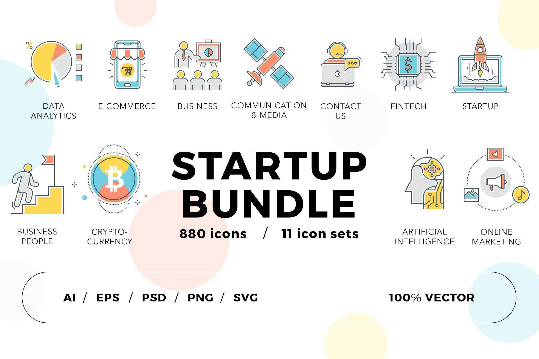 800 Startup Icons Bundle