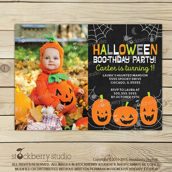 Halloween 1st Birthday Invitation