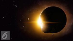 I Rasi Gerhana Matahari Total Istockp O