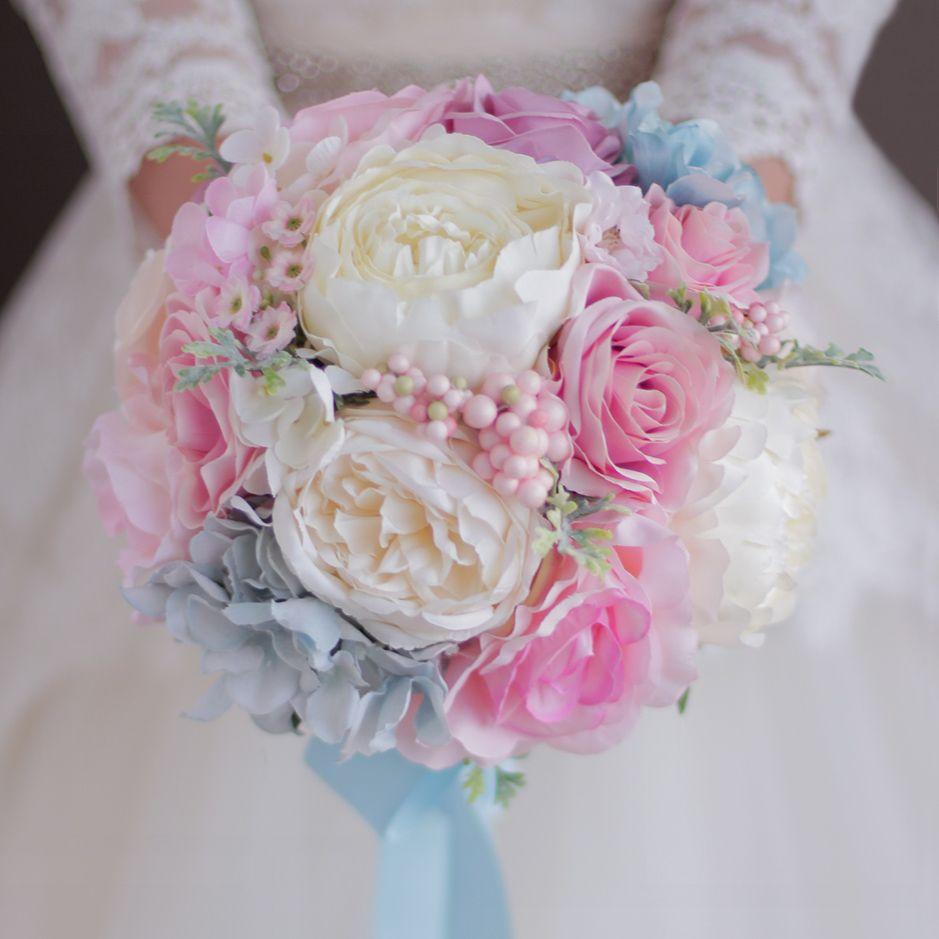 Schicken Mehr Hochzeit Bouquets Information Uber Rosa Blau Hochzeit