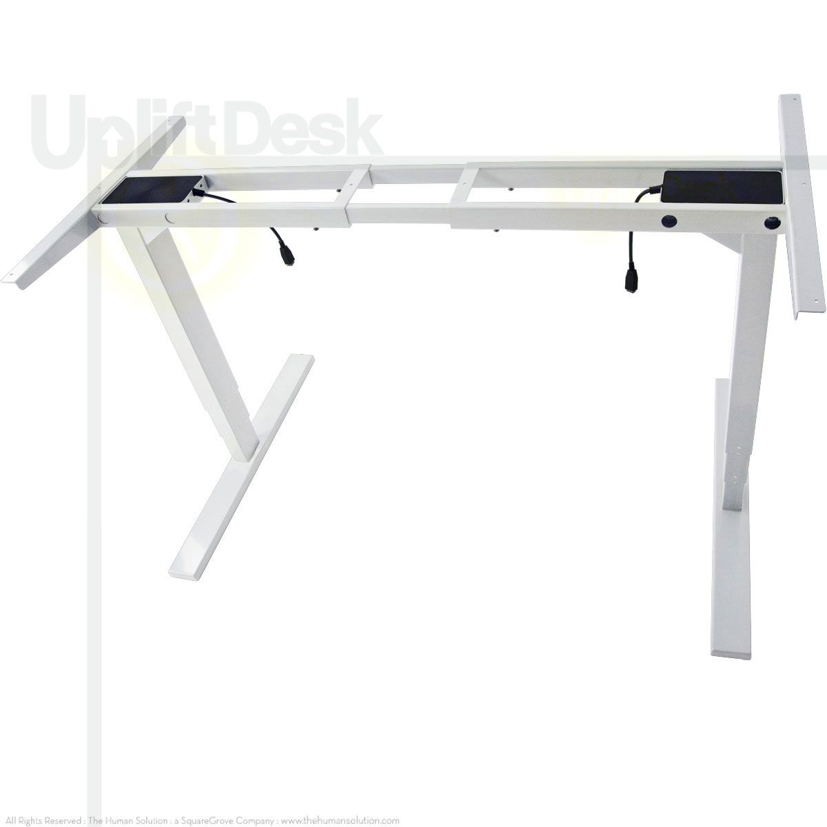 The uplift heightadjustable standup desk base stone white