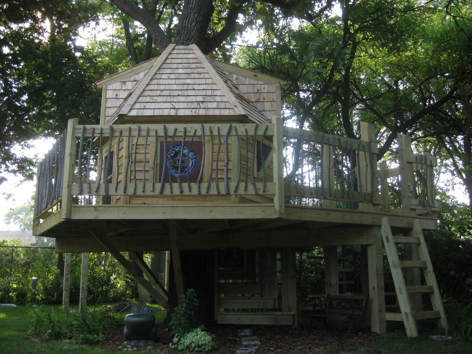 Creative Backyard Playsets Ideas Picture Tour Of The Whimsical Mckay Treehouse Backyard Playground Backyard