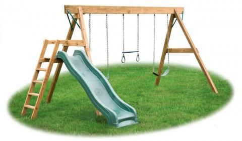 Standard A Frame Swing Set With Slide Domiki Dlya Detej