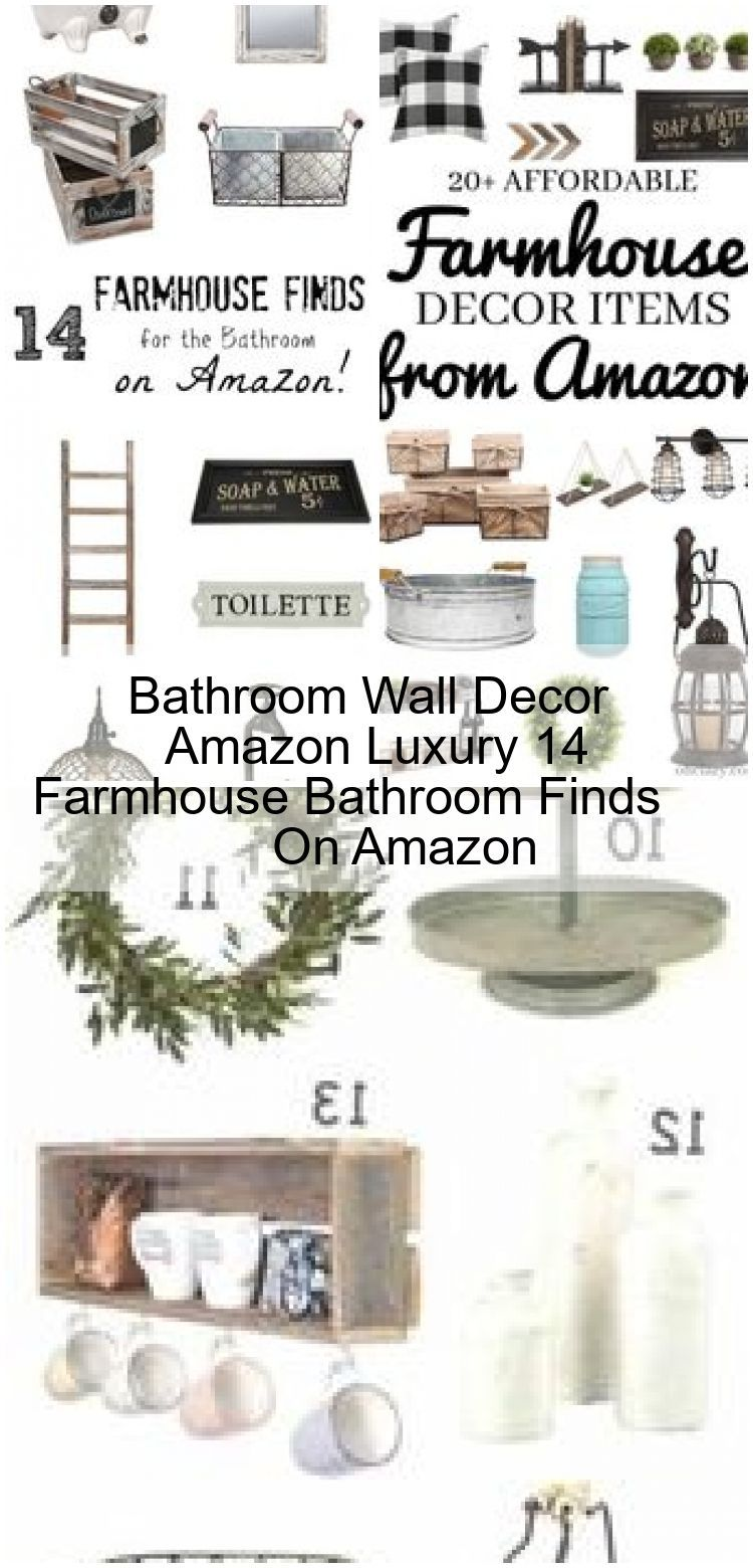 Bathroom Wall Decor Amazon Luxury 14 Farmhouse Bathroom Finds On Amazon Amazon Bathroom Decor F Bathroom Wall Decor Wall Decor Amazon Farmhouse Bathroom