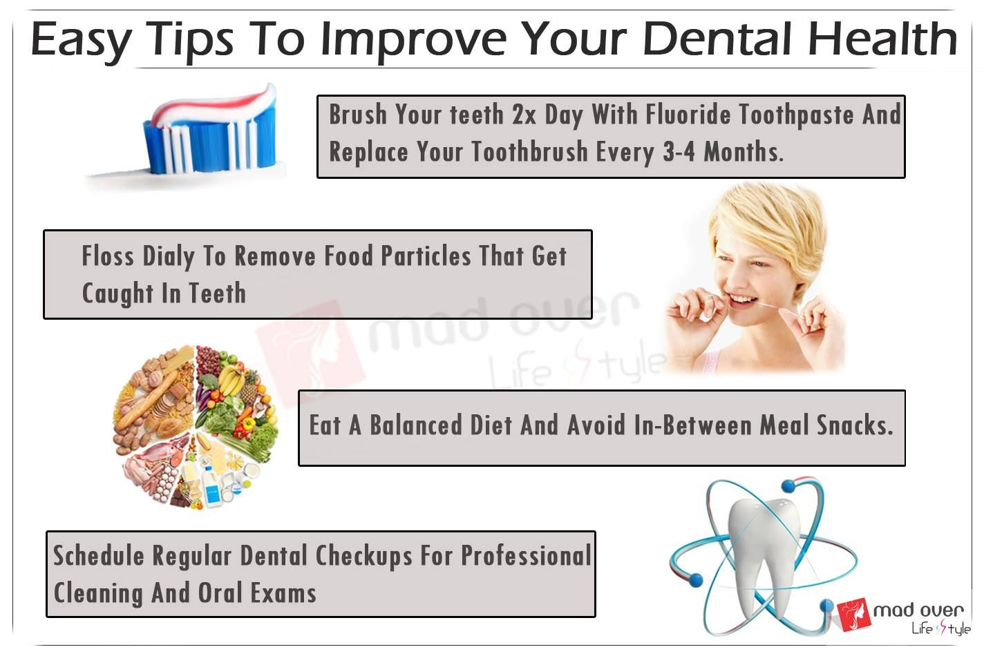 Easy tips to improve your dental health dental