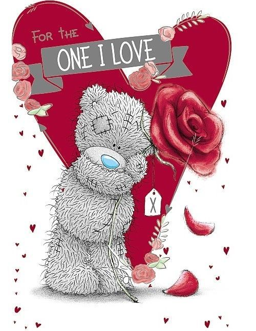 Me To You For The One I Love Birthday Card Tatty Teddy Bear New Gift