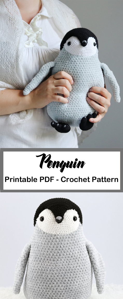 Penguin Crochet Patterns -Amigurumi Tips - A More Crafty Life #crochet #crochetpattern #amigurumi #diy #crochetdiy
