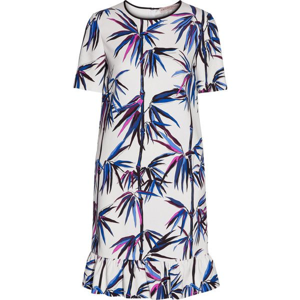 Emilio Pucci Woman Ruffle-trimmed Printed Crepe Dress White Size 38 Emilio Pucci PjRRVt5