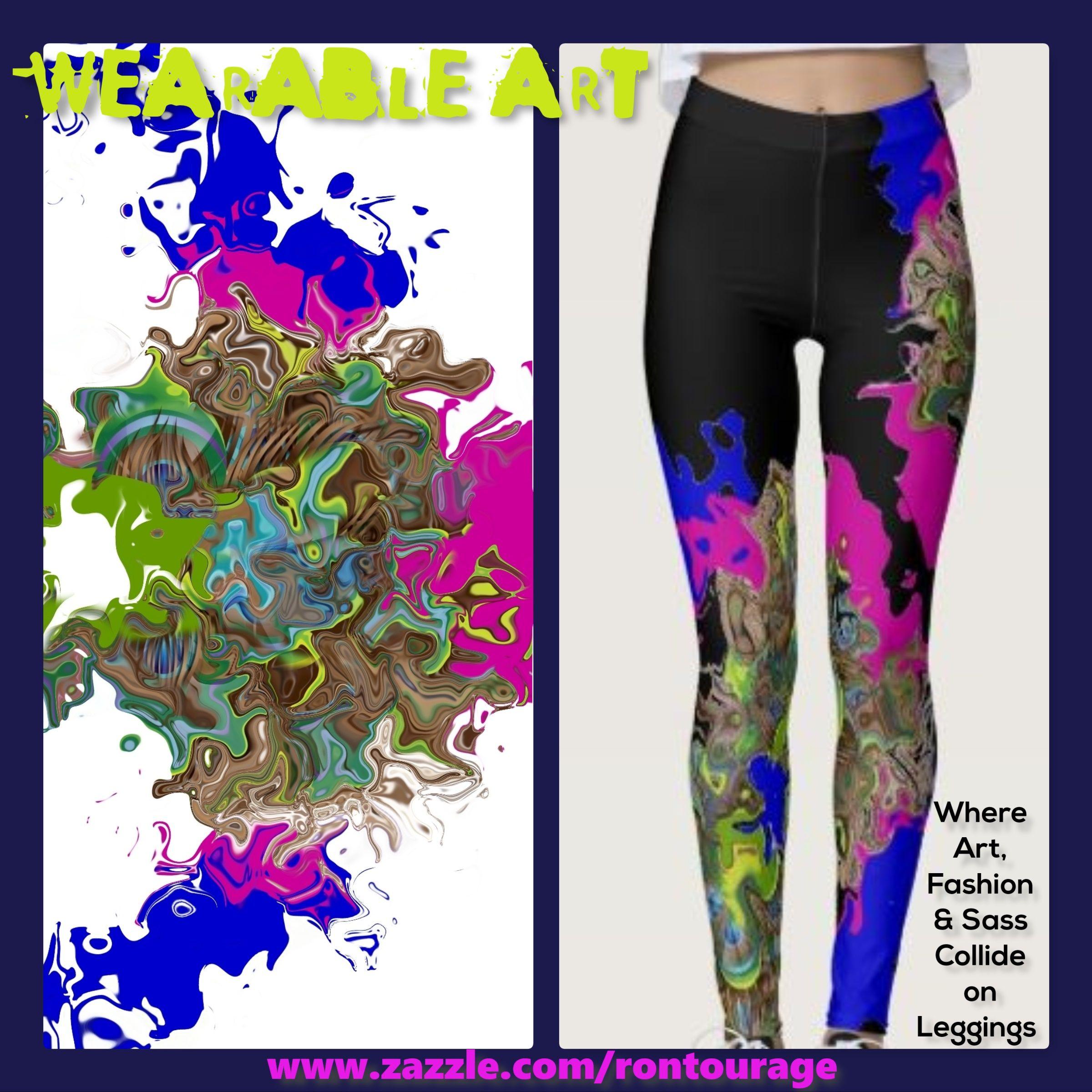 Polka dots design from original acrylic painting Yoga Leggings
