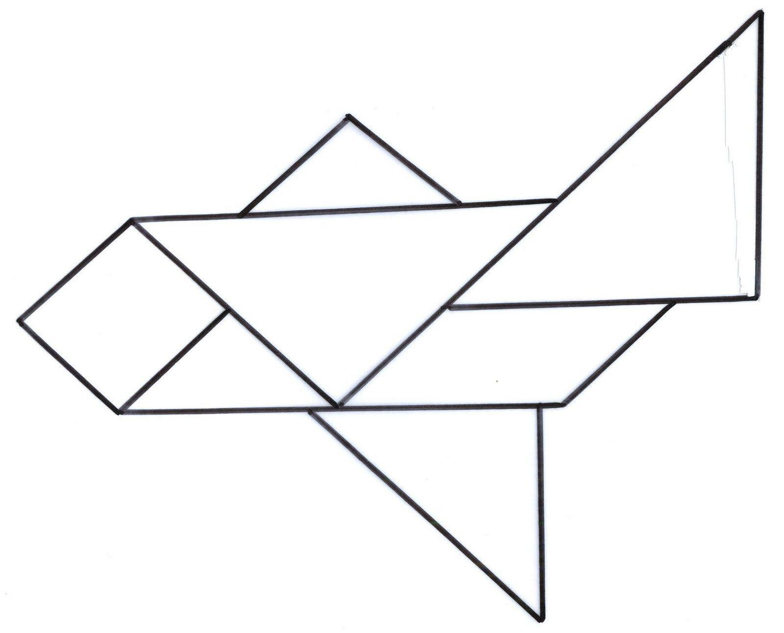 этом картинки с контурным изображением ракеты и самолета из геометрических фигур самые