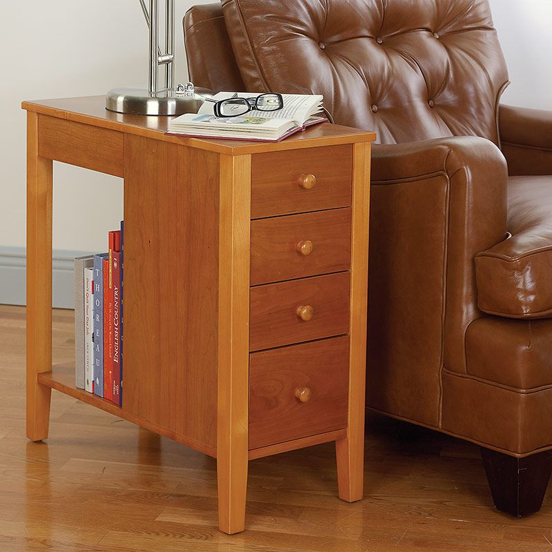Narrow End Table With Storage No Room For A