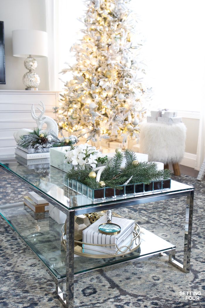 Glam Gold and White Christmas Home Tour & 30 Holiday Homes ...