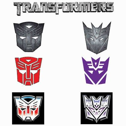 transformers the top autobot symbol looks mad and the middle
