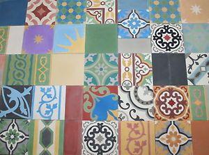 Details Zu 1m² Zementfliesen Mediterrane Ornament Fliesen ... Mediterrane Badezimmer Fliesen Bunt