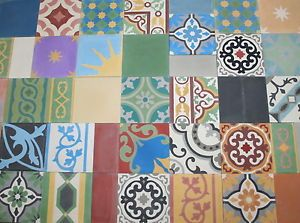 1m zementfliesen mediterrane ornament bad dekor bodenfliesen buntes patchwork ebay