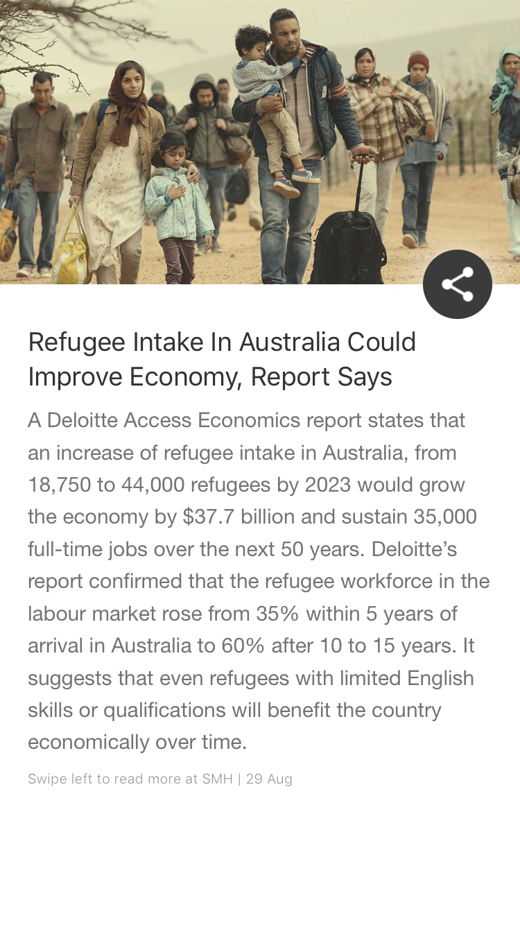 Refugee Intake In Australia Could Improve Economy Report Says Economy Refugee Australia