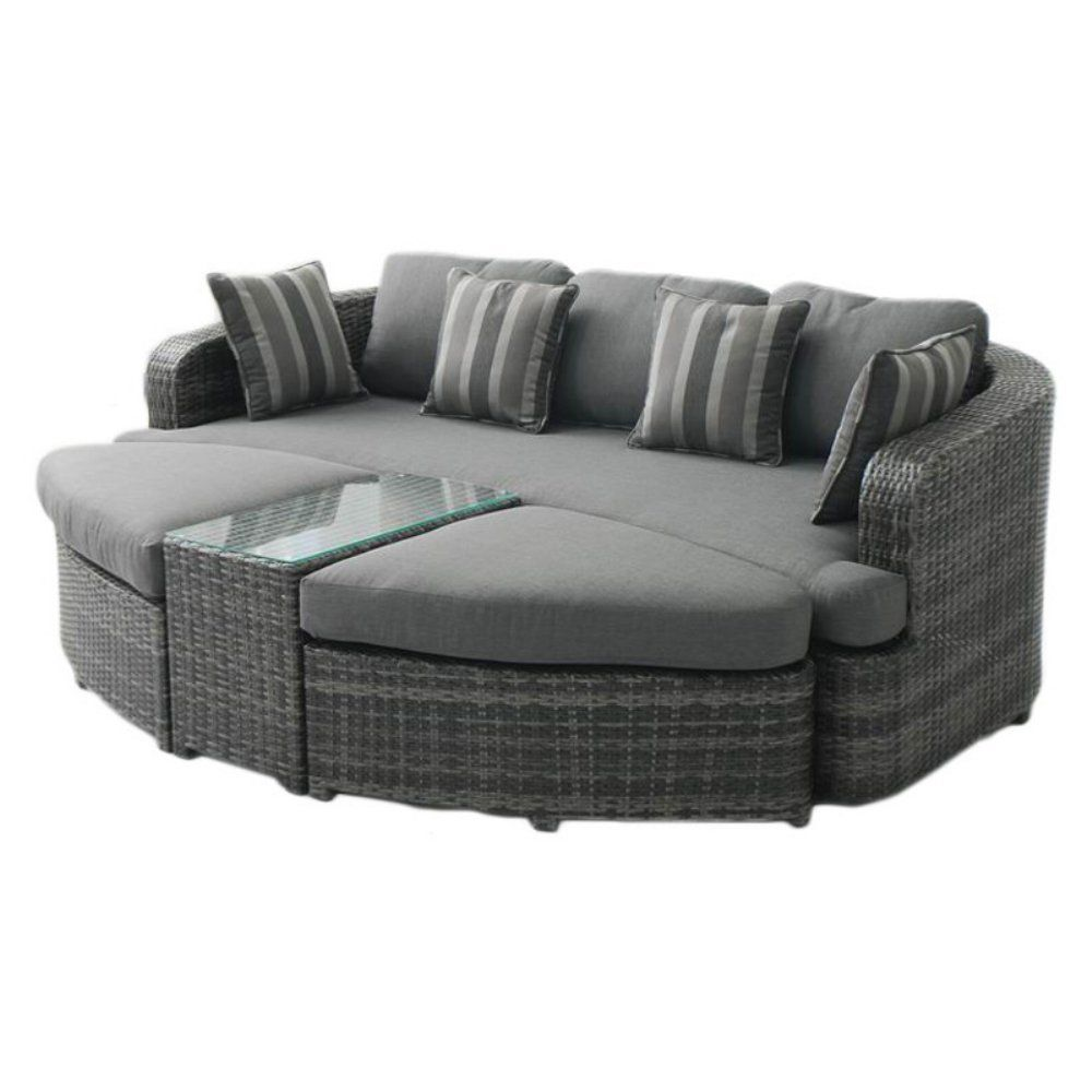 Resin Wicker Outdoor Daybed Sofa: Outdoor Belham Living Wingate All Weather Wicker Sofa