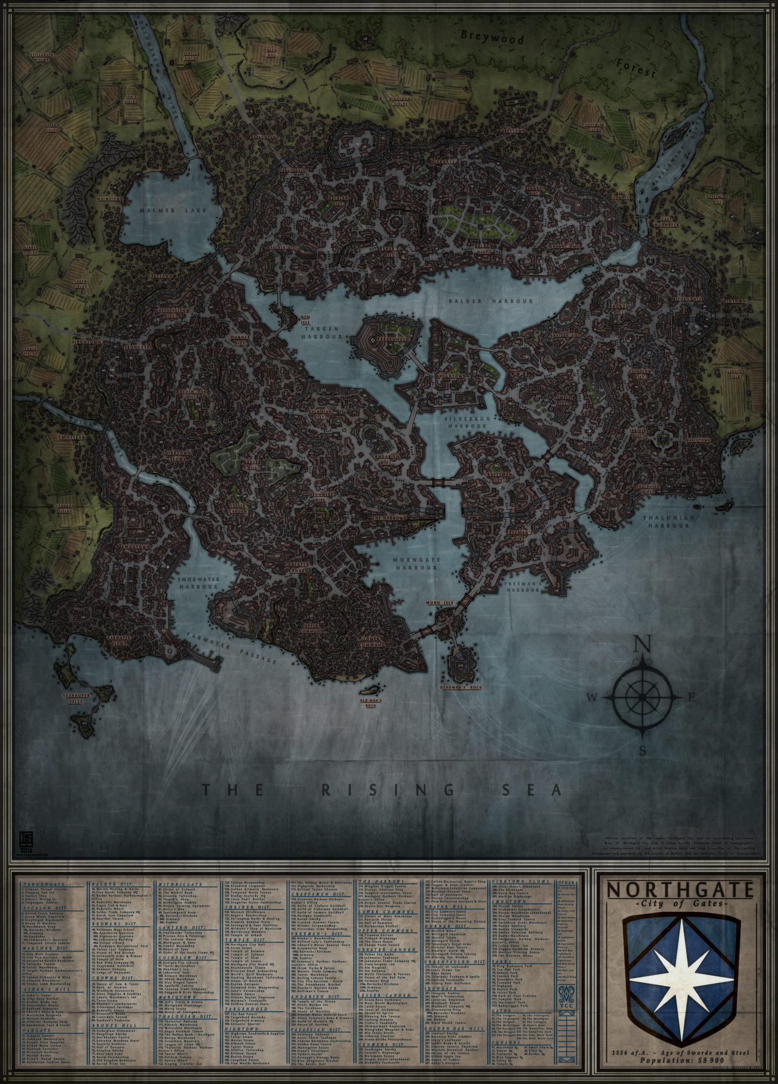 Interactive World Cities Map%0A Northgate  City Map by Levodoom city of Northgate rework  great detail   nice fonts