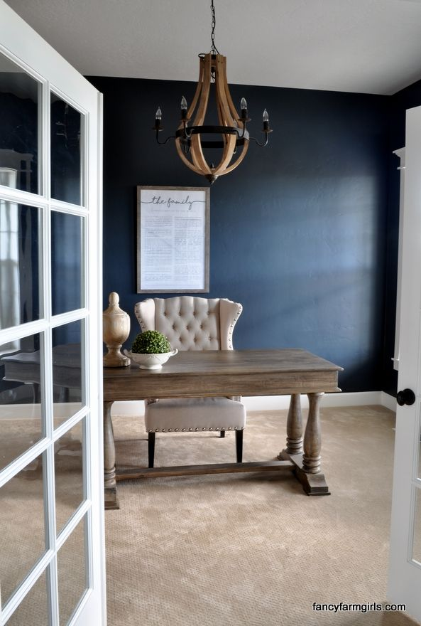 using navy blue in home decor blue home decor blue home on blue office color id=76549