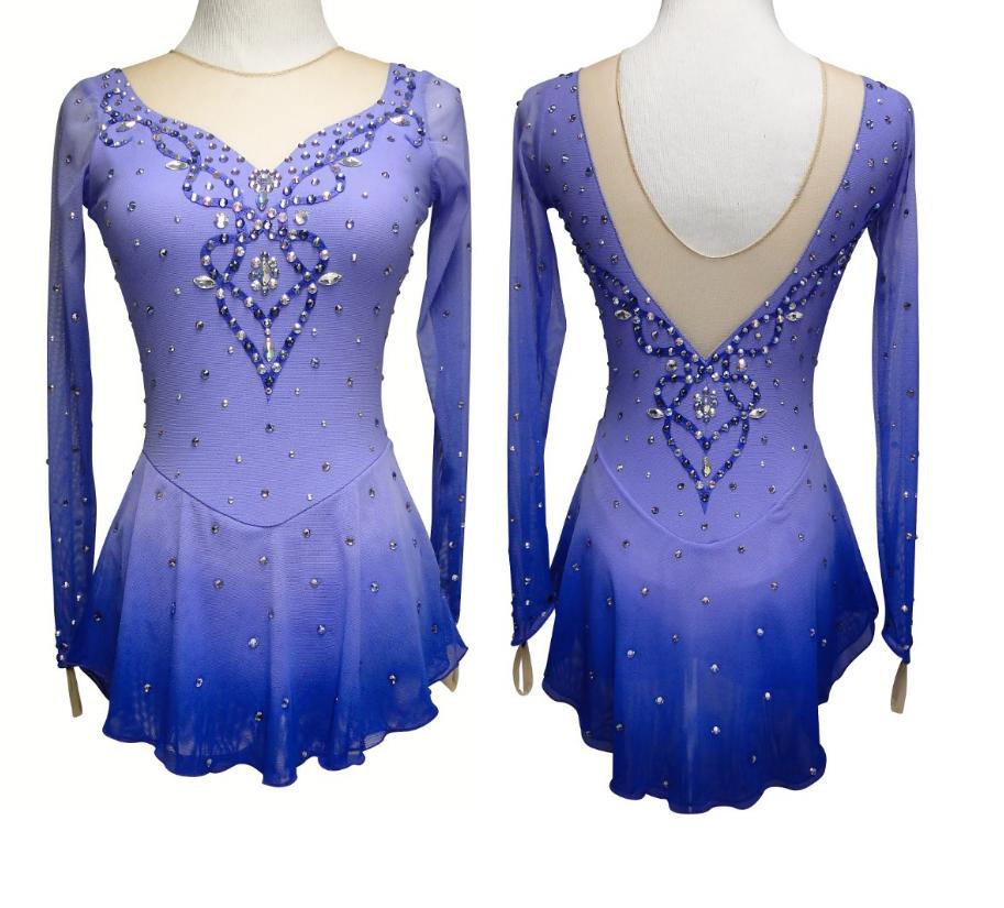 Competition Figure Skating Dress Girls Ice Skating Dresses Custom royal blue