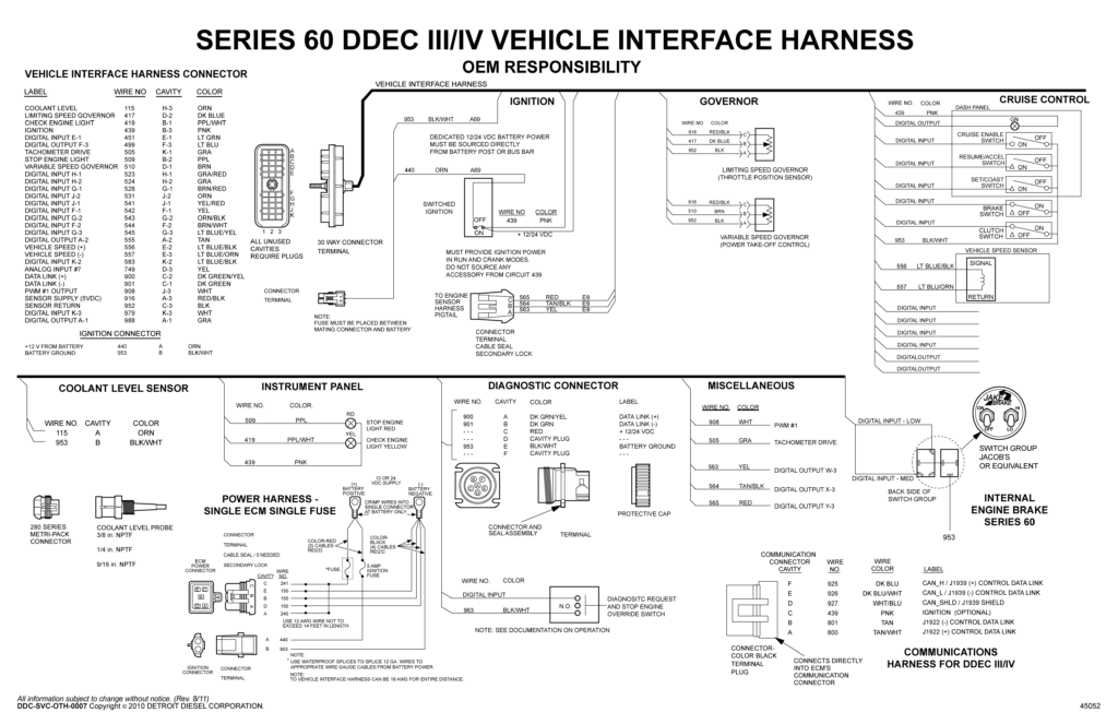 detroit diesel series 60 ecm wiring diagram to  detroit