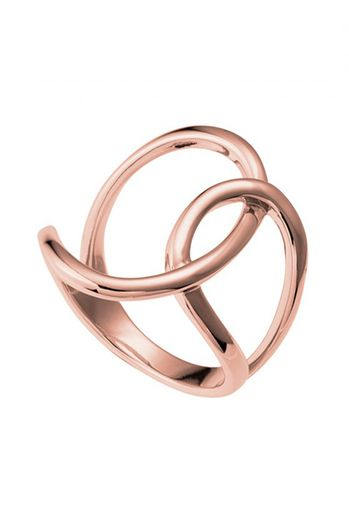Najo Adorable Rose Gold Womens Ring R5122L  This irresistible ring will turnheads wherever you go. Crafted from polished rose gold plated sterling silver and artfully twisted to created a modern and stylish accessory.