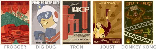 I would love these for my classroom! Retro videogame posters