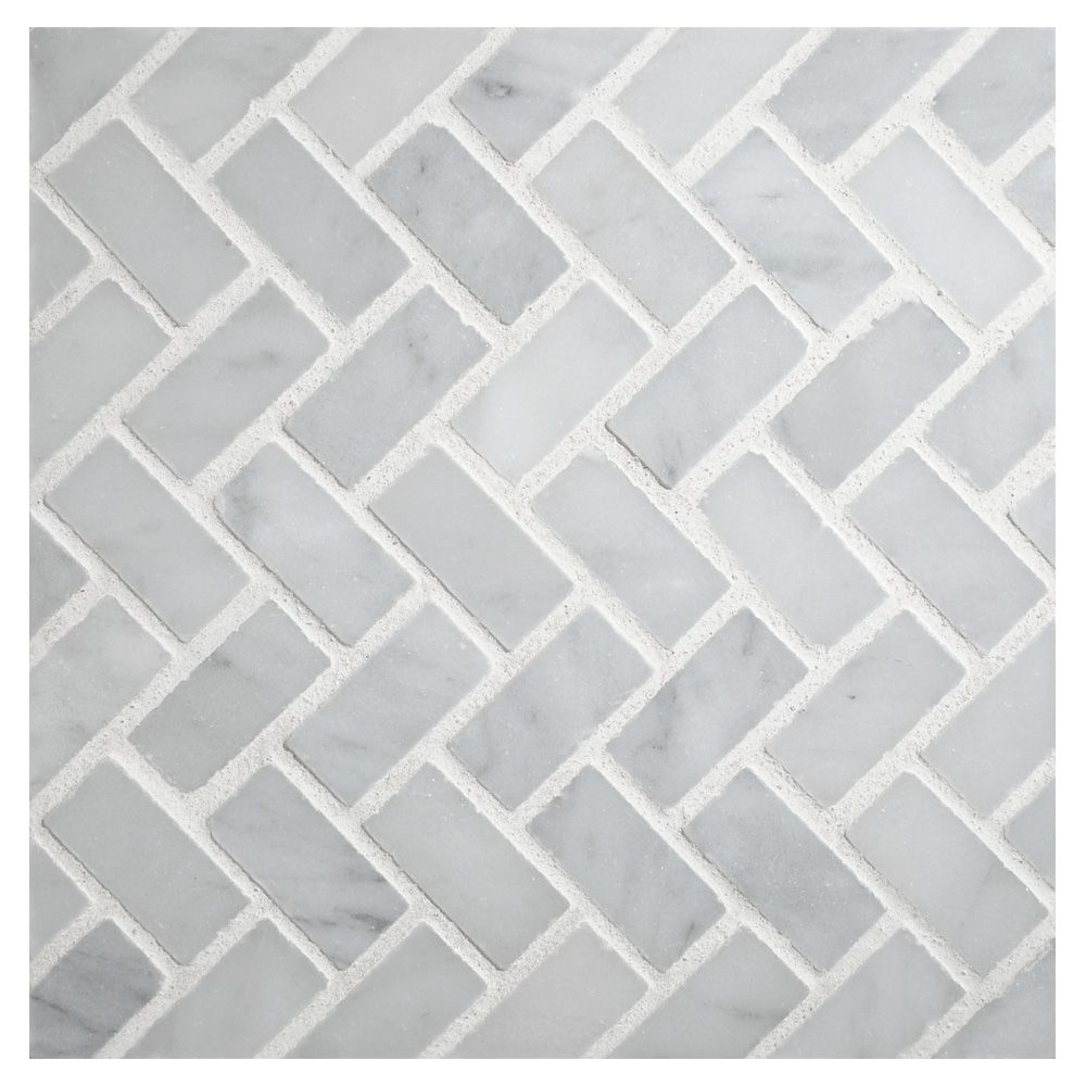 Specifications mi 065 s2 400 115 color white carrara finish herringbone mosaic tile using white carrara polished marble a timeless pattern which creates a zig zag visual livening any space it is used in dailygadgetfo Gallery