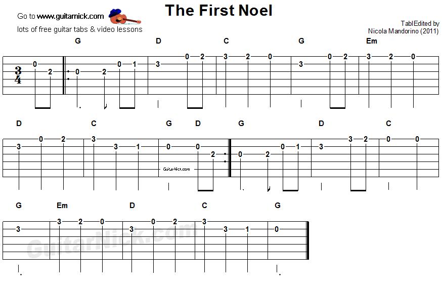The First Noel Guitar Tab Guitar Guidance Pinterest Guitar