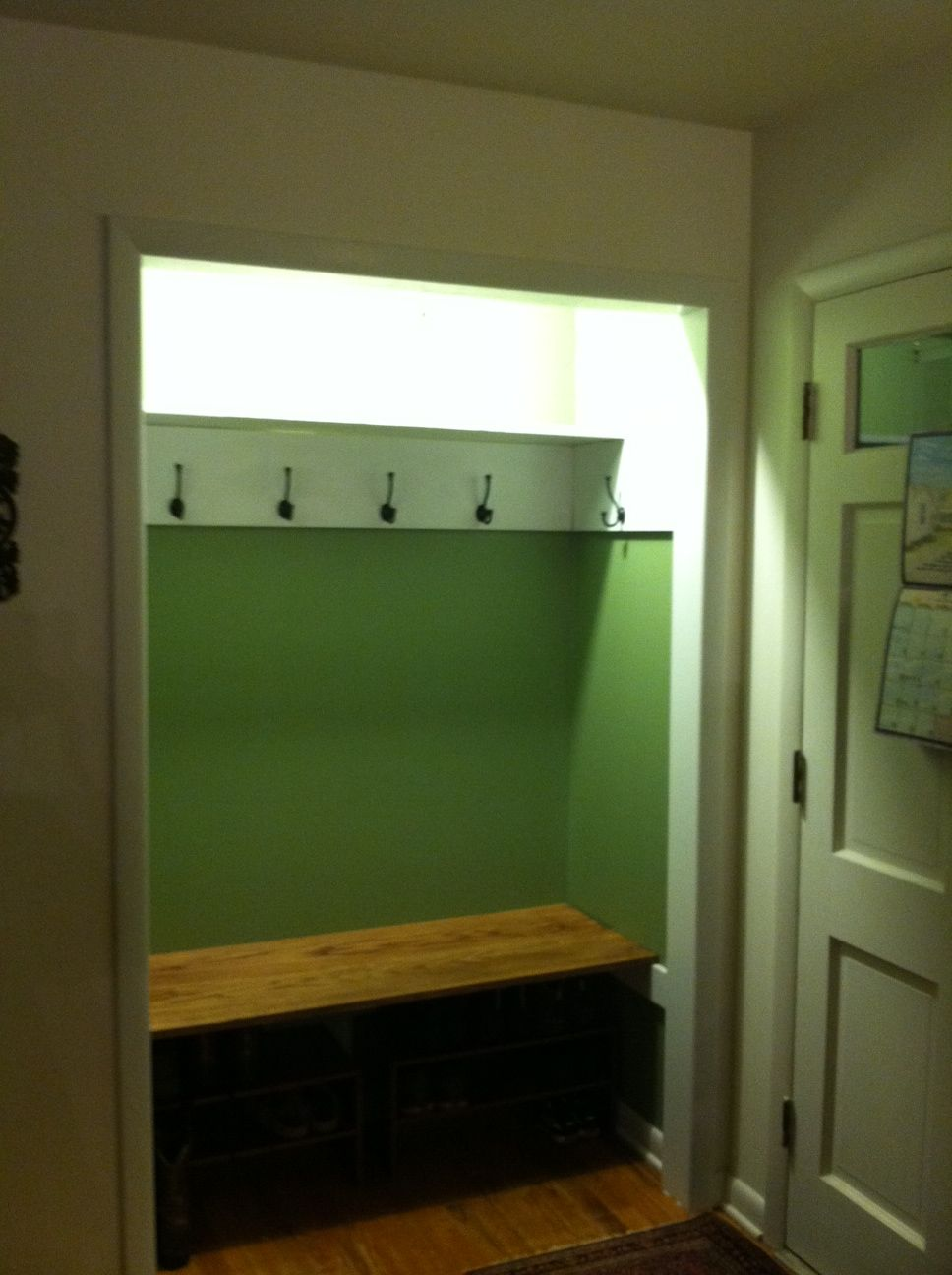 Turn Foyer Into Mudroom : Front entry hall closet turned into a mini mudroom less