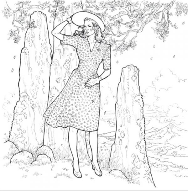 The Official Outlander Coloring Book Coloring Pages Pinterest
