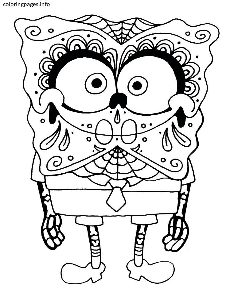 disney sugar skull coloring pages - Sugar Skull Coloring Page