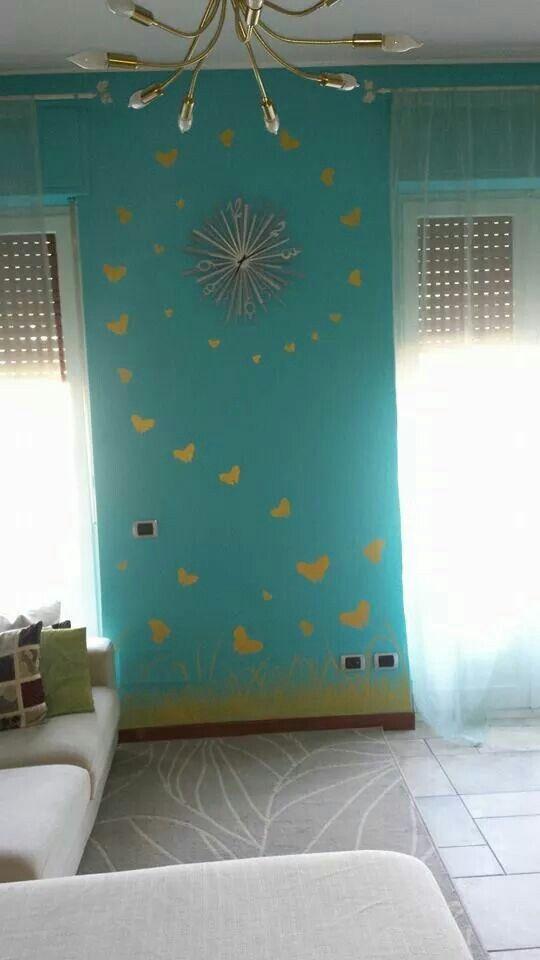 Farfalle disegni su parete