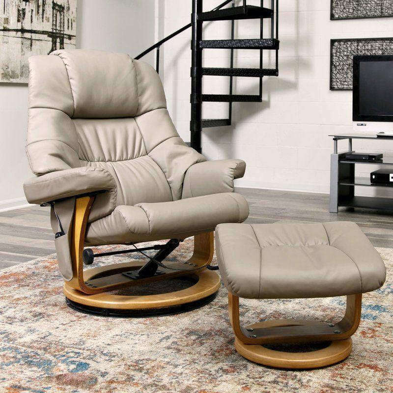 Bathild reclining massage chair with ottoman massage