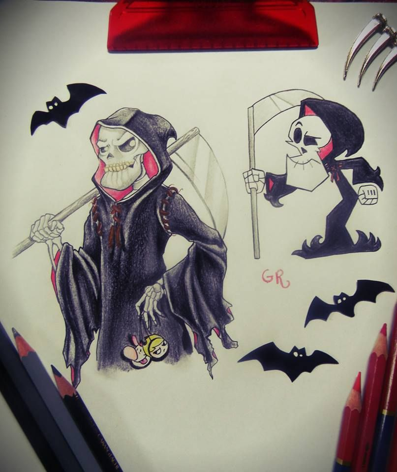 grim reaper in anime style the grim adventures of billy