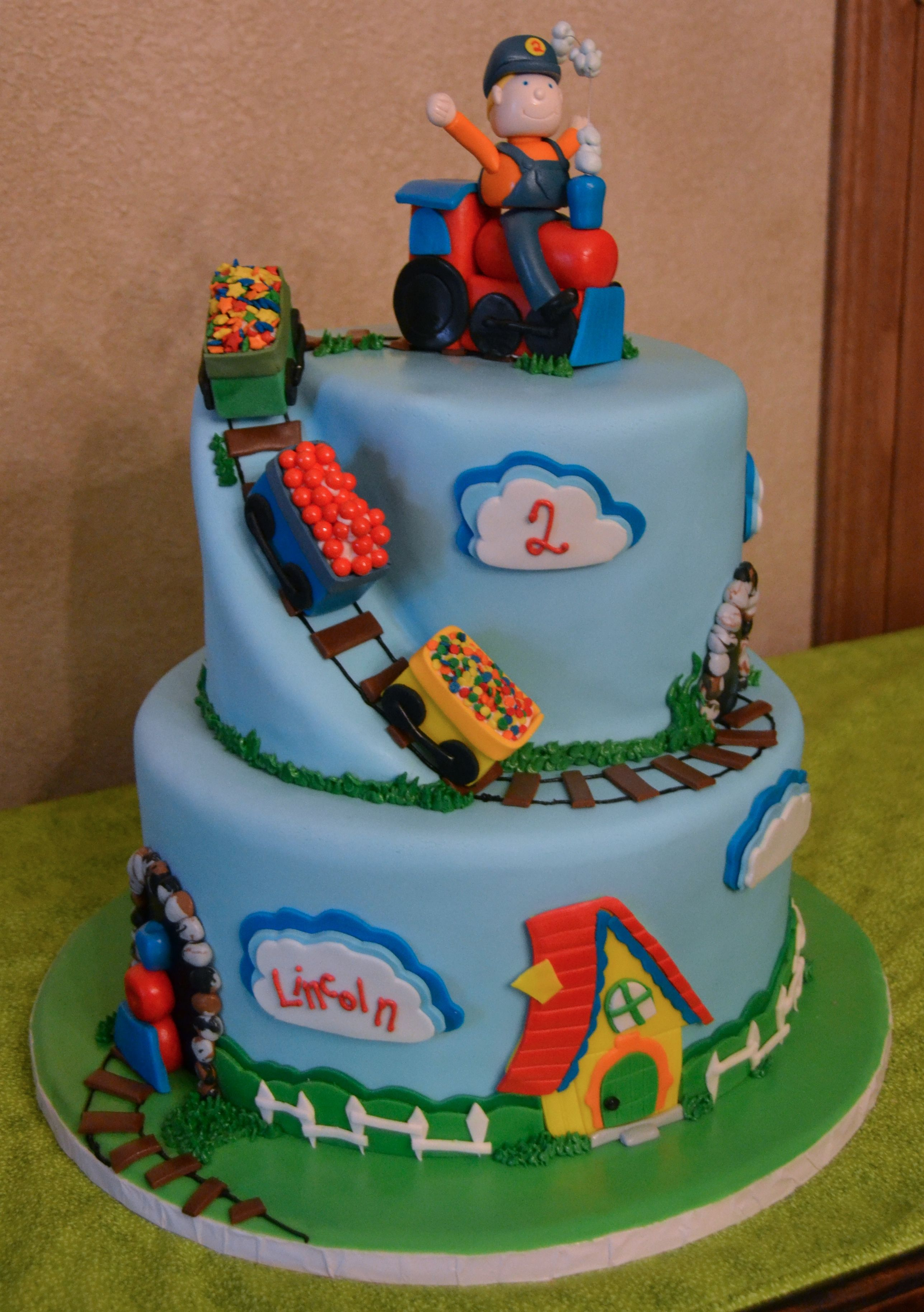 Choo Choo Train Little Boy 2nd Birthday Party. Train cake ...